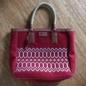 kate spade red tapestry purse shoulder bag